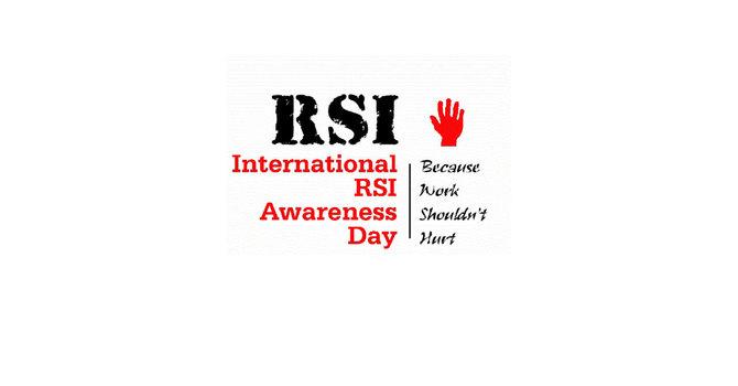 International Repetitive Strain Injury (RSI) Awareness Day 2019 image